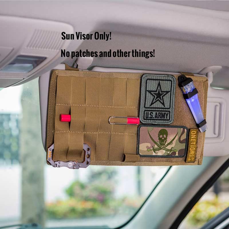 OAREA MOLLE Multi-Pocket Visier-Panel Auto Sonnenblende Organizer CD Tasche Auto Zubeh/ör f/ür Reise-Kits