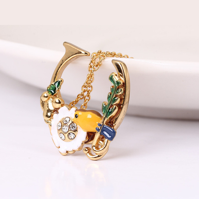 Birdie Ornaments Necklace Tail Chain New Pattern Be Listed Website Synchronous Gold-plated Defence Allergy