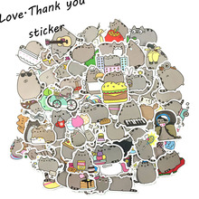 50pcs pack Cartoon Pusheen the Cats Anime For Laptop Luggage Bags Bike Phone Styling Cute Toys