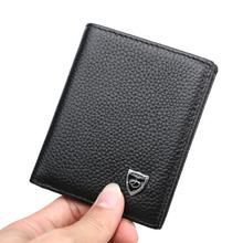 100% Real Cowhide Genuine Leather Mini Wallet little purse men Fashion Leather small men Wallets, Free Shipping