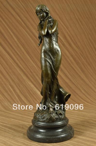 Sensual Bronze Marble Statue Nude Female Venus Sculpture Classic Art Decor Sale
