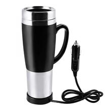 DC12V Car Cigarette Lighter Heating Cup Kettle Insulated Stainless Steel Water Heater Mug Boiling Travel Mug Coffee Cup