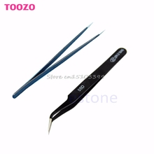 Straight Tips Tweezer Or Curved Tips Tweezers Anti Static Magnetic Tool #G205M# Best Quality