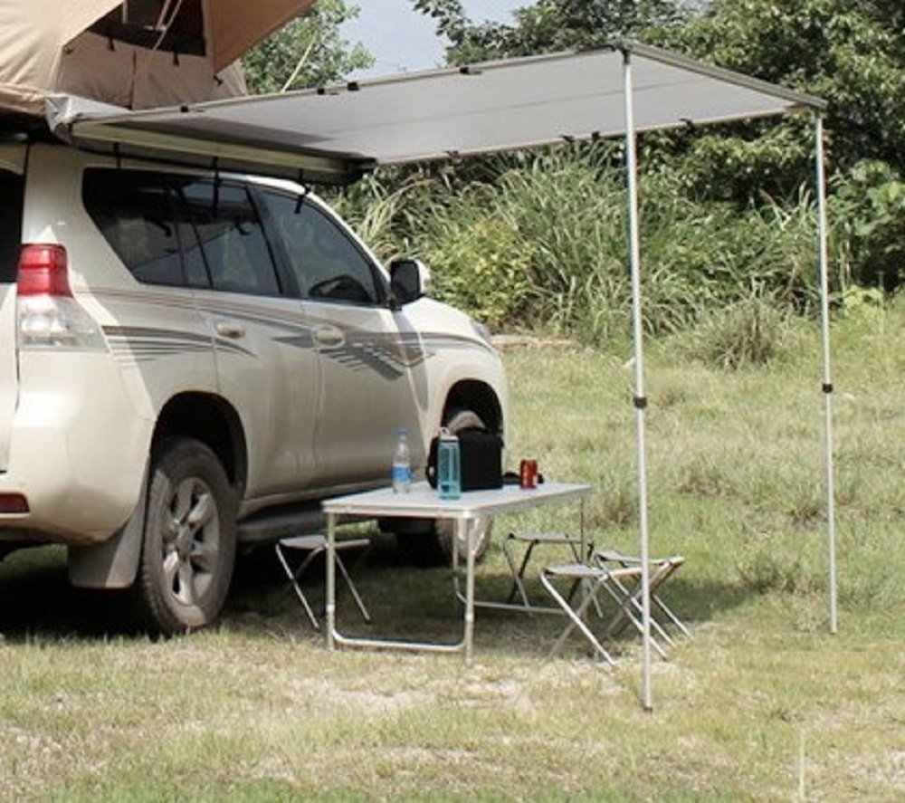 4Wd Awning Tent grey color 4wd car top up tent side car awning tents for sun shade, it fit  all kind of cars