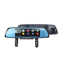 Big sale Dongzhen 7″ Touch Special Car DVR Camera Mirror GPS Bluetooth 16GB Android 4.4 Dual Lens FHD 1080p Video Recorder Dash Cam