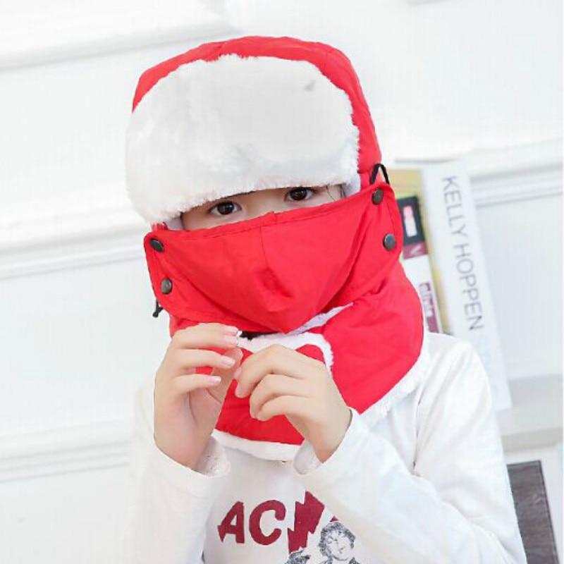 Которая в душе семья мех бомбер шляпа для женщин и мужчин ушные щитки Русская Шапка Детская уличная теплая утолщенная зимняя шапка с шарфом маска