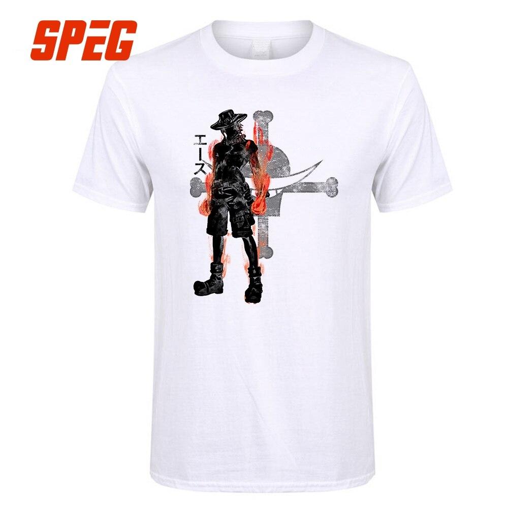 Fashion Anime T Shirt Anime Ace One Piece Fire Fist Youth ...