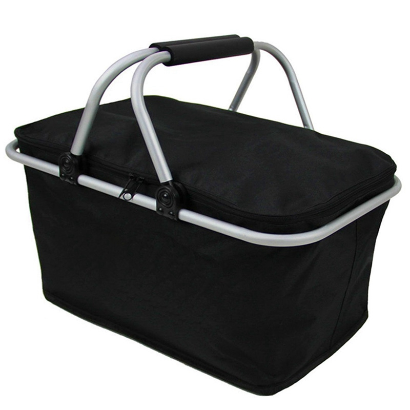 Folding Picnic Camping Insulated Cooler Cool Hamper Storage Basket Bag Box Outdoor Picnic Bags