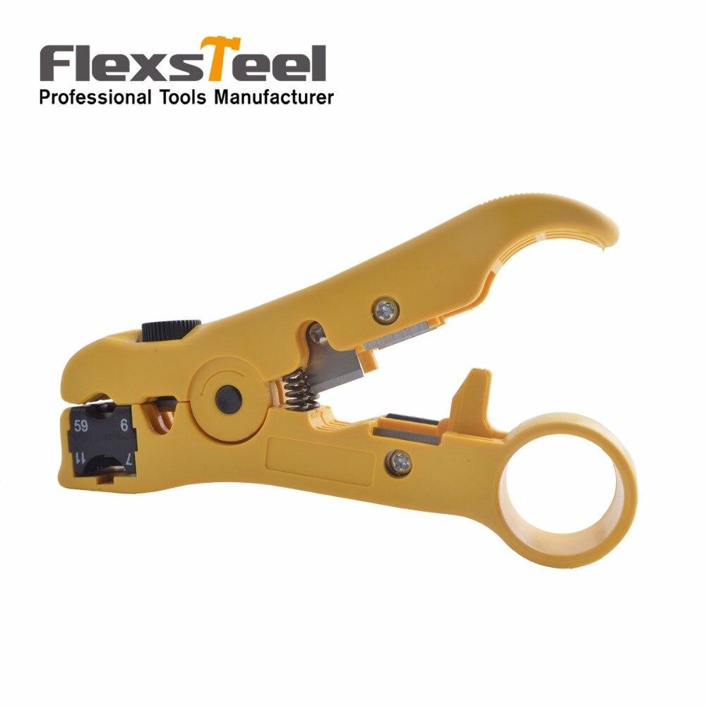 Flexsteel Провода Терминал щипцы gr59/6/11/7 UTP/stp зачистки коаксиального кабеля обжимной Щипцы для наращивания волос инструмент для сети