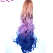 JOY&BEAUTY Hair Synthetic Wavy 3Color Ombre Color Ponytail Extension Fake Pony Tail 22″ Claw Clip On Hair Extension