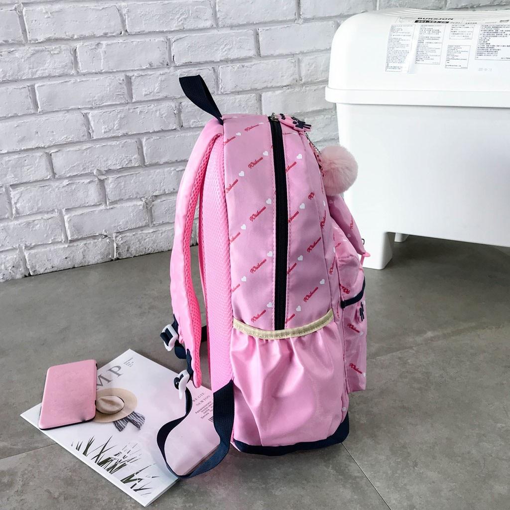 Women Bow Canvas Three-piece School Bag 27