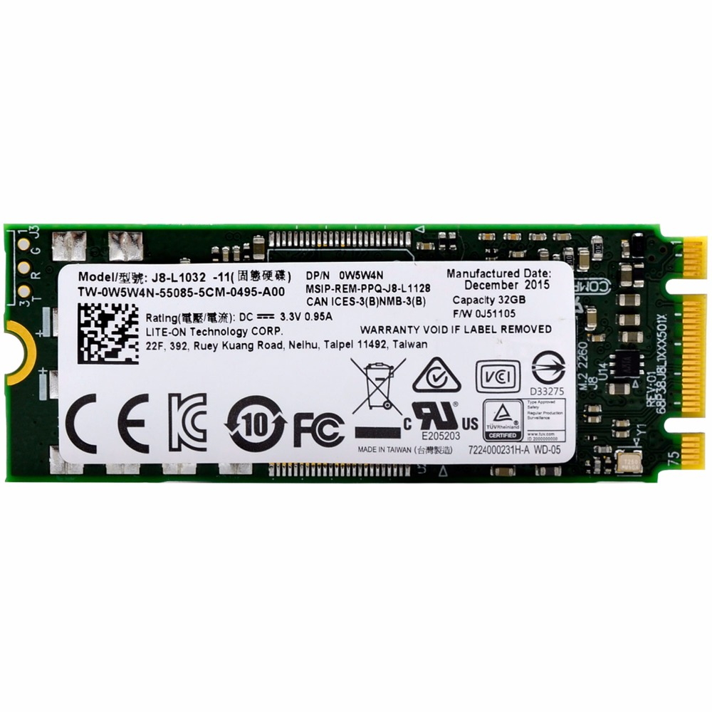 M.2 SSD SLC Flash M2 2260 SSD 32GB Disco Duro Interno Internal Solid State Drive For PC Notebook Ultrabook SSD Free Shipping