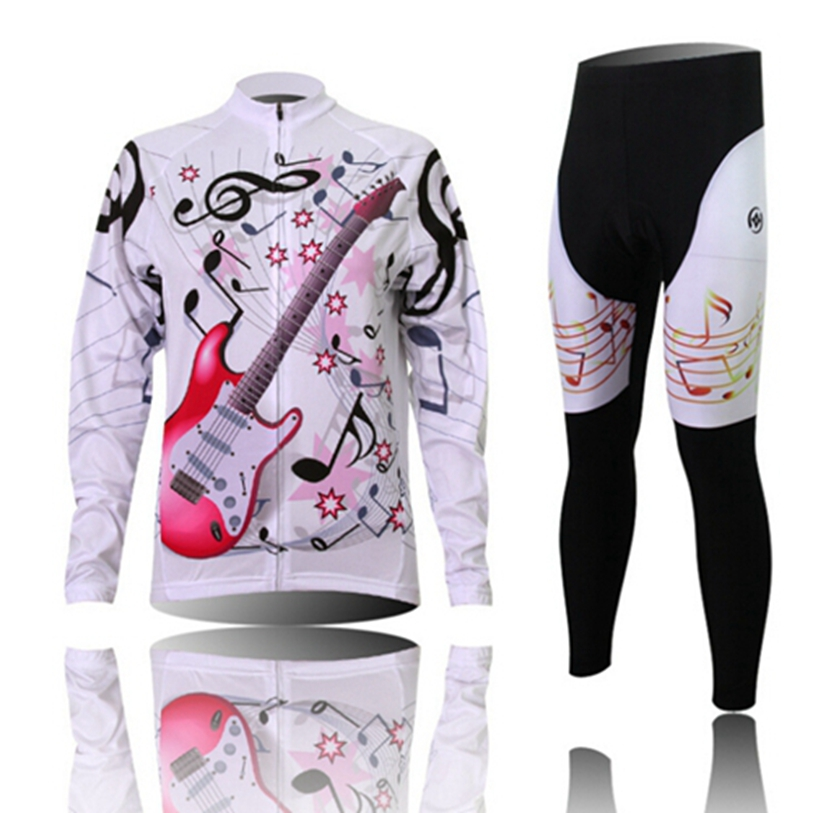 Hot XINTOWN Women Bike Long jersey Pants Guitar Pro Team Cycling clothing Riding Top MTB Wear Long Sleeve Shirts