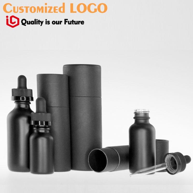 black tube paper box oil bottle packaging high quality OEM logo Бутылка