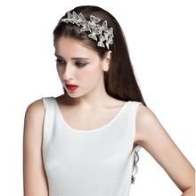Guirnalda de los 2016 Diez mariposa Hairband Accesorios Para El Cabello Joyería Del Pelo de la Alta Calidad de La Manera de Las Mujeres Rhinestone de La Venda Envío gratis