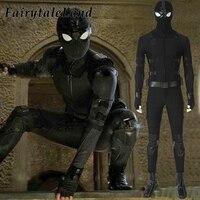 Человек паук далеко от дома стелс косплей, карнавальный костюм Хэллоуин Человек паук Нуар наряды черный костюм на заказ
