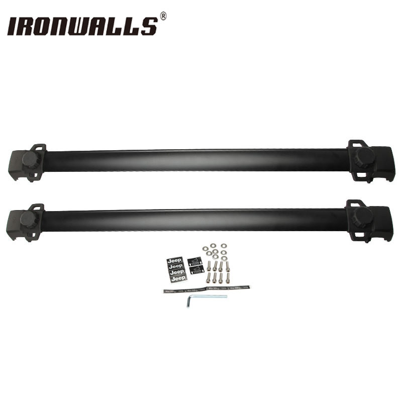 Ironwalls Black Adjustable Aluminum 150LBS Car Top Carrier Roof Rack Cross  Bars Fit For Jeep Compass 2011 2012 2013 2014  In Roof Racks U0026 Boxes From  ...