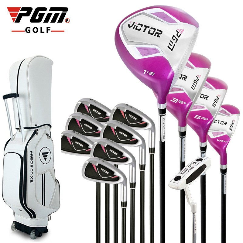 Brand-PGM-12-pieces-ladies-golf-clubs-complete-set-with-bag-