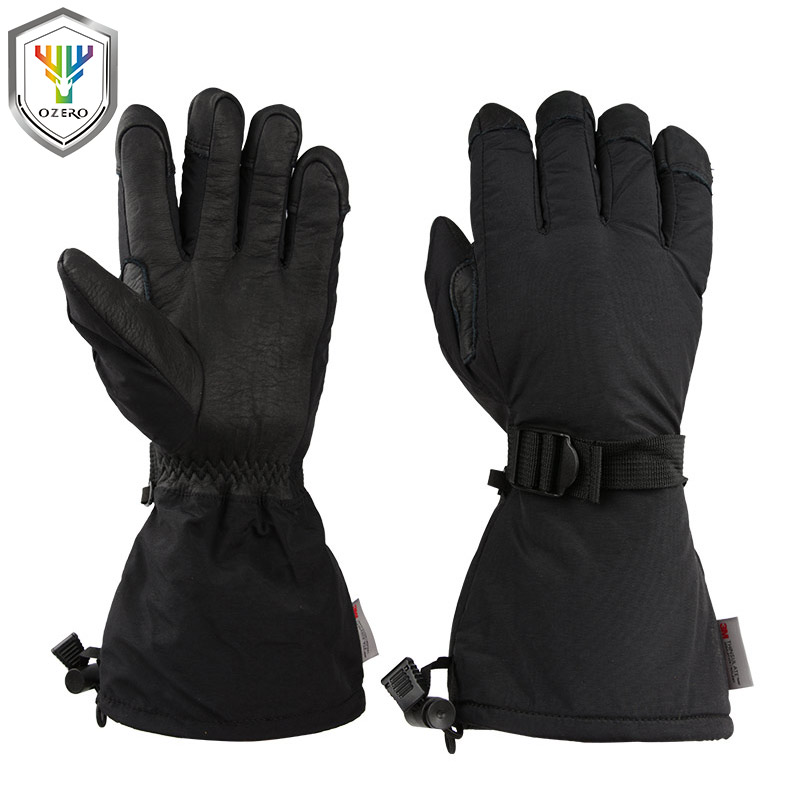 OZERO Winter Ski Gloves Men's Skiing Snowboard Snowmobile Motorcycle Riding 3M Sports Windproof Waterproof Warm Gloves For Woman