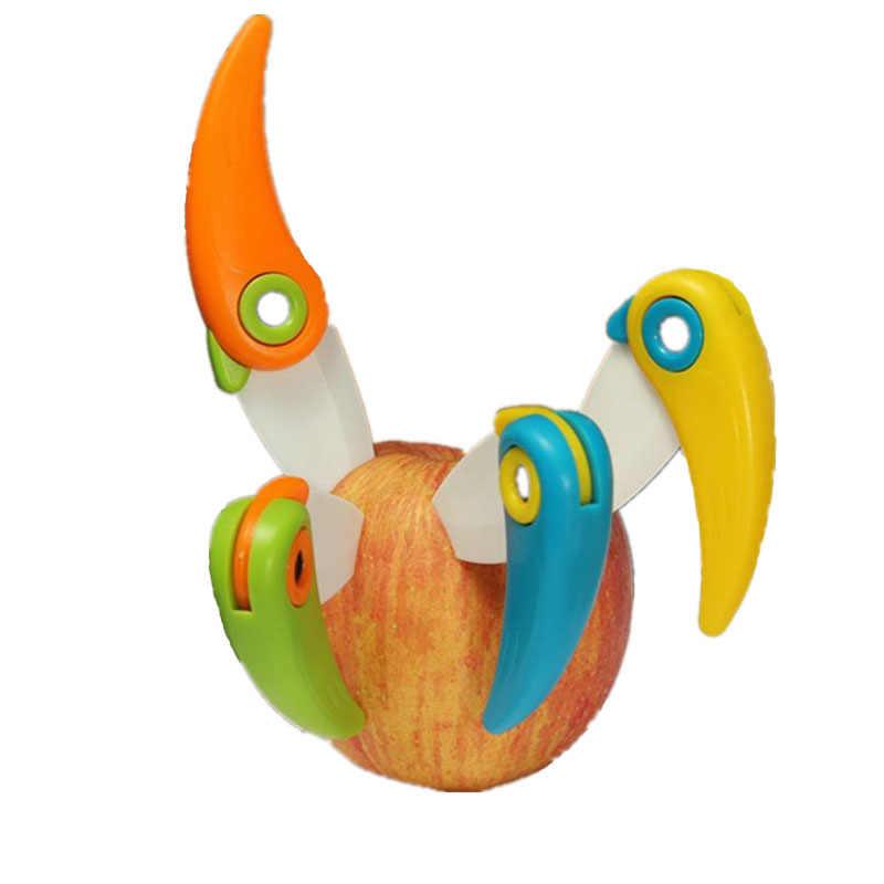 Bolso Mini Pássaro Cortador de Lâmina caixa de Almoço Piquenique saco Casca Cerâmica Fatia Cortada Pare Dobra Faca Descascador Talheres de Cozinha Vegetal frutas