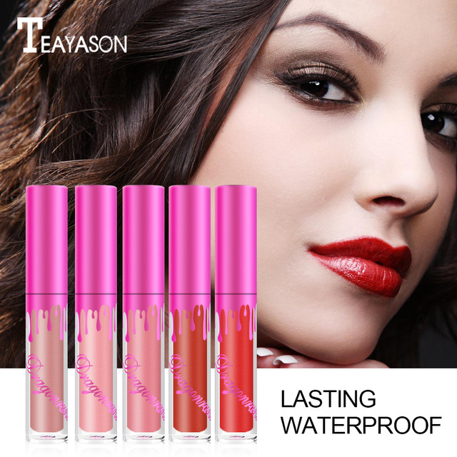 Mujer de belleza impermeable de larga duración labio líquido mate lápiz labial labio brillo maquillaje/X
