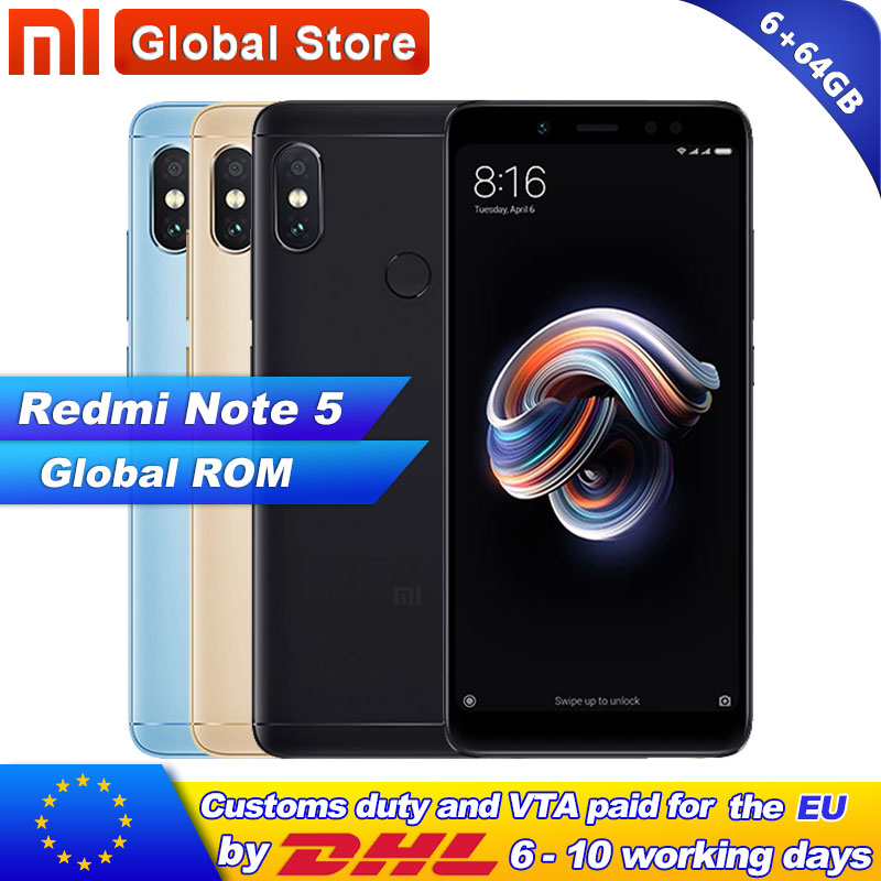 Xiaomi Redmi Note 5 6GB RAM 64GB ROM Telephone Snapdragon S636 Octa Core 5 99 2160