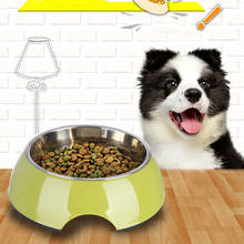 1PC Durable Stainless Steel Pet Dog Food Bowl Anti Skid Feeder for Dogs Multi-function Cat Water Container - Color Rand