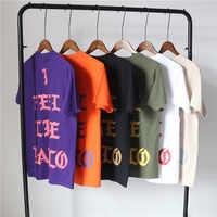Pablo Kanye West Concert New York London Los Angeles I feel Like Paul White Black Camel Army Green Purple Orange Cotton T-shirt