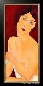 Portrait Oil Painting Woman The Beautiful Roman Girl by Amedeo Modigliani Room decor Hand painted High quality