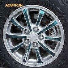 Aosrrun углеродного волокна зерна ступицы колеса вставить шины углеродного волокна автомобиля наклейку автомобильные аксессуары для Mitsubishi ASX 2018 2017