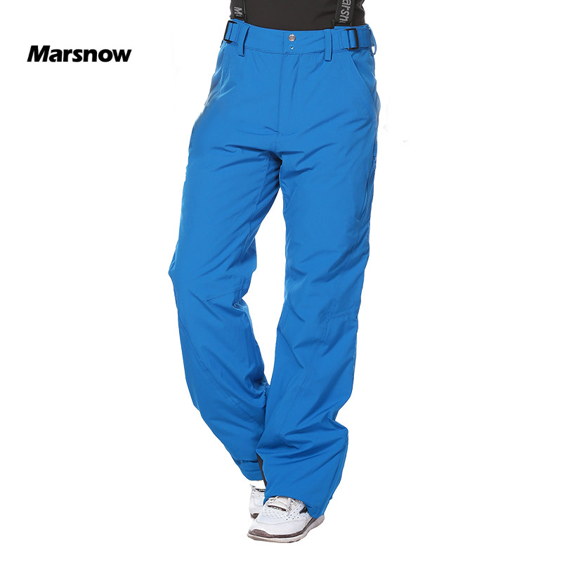 Marsnow -30 Outdoor Winter Ski Men Pants Thicken Warm Windproof Waterproof Snow Skiing Snowboard Pants Breathable Male Trousers 40 man snow pants professional snowboarding pants waterproof windproof breathable winter outdoor camouflage ski suit trousers