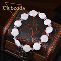 New Creative Women White Petals Bracelets Natural Stone Bracelets Lap Crystal Strand Bracelets & Bangles Diybeads