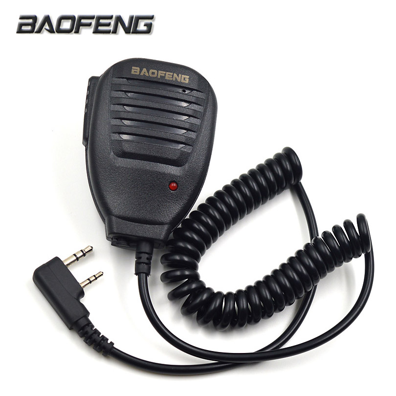 Original Baofeng Radio Speaker Mic Microphone PTT For Portable Two Way Radio Walkie Talkie UV-5R UV-5RE UV-5RA Plus UV-6R(China)