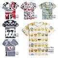 Alta calidad big boys 3d personalidad creativa impreso t-shirt de manga corta cuello redondo ropa del muchacho de la camiseta 14-20 años de edad