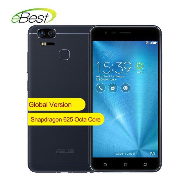 Глобальная версия ASUS ZenFone 3 зум ZE553KL мобильного телефона 4G LTE 5,5 дюймов 4G B 6 4G B двойной 12MP Камера Octa Core 5000 мАч смартфон