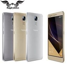 Original huawei honor 7i al10 teléfono elegante 4g 5.2 pulgadas ips msm8939 64Bit Octa Core 3G RAM 32G ROM Android 5.1 13.0MP Huellas Dactilares
