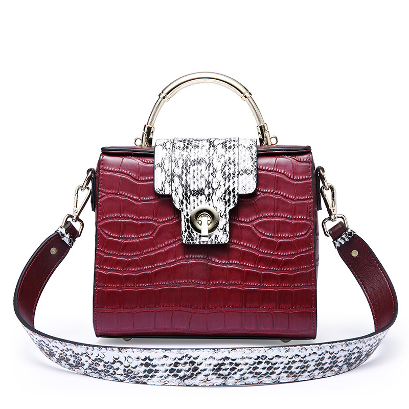 Luxury Alligator VS Serpentine Pattern Leather Women Handbag European And Russian Fashion Style Messenger Bag Small Shoulder Bag new serpentine pattern cow leather women s bag handbag european&american fashion style shoulder messenger bags black red gray