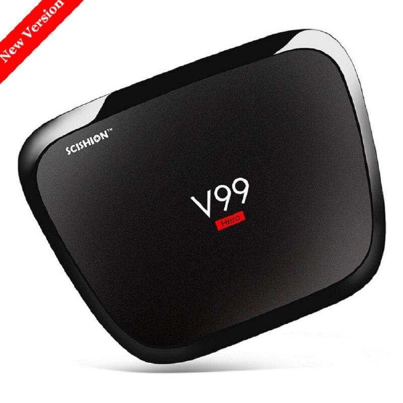 SCISHION V99 Hero Android TV Box 4GB RAM 32GB ROM Rockchip 3368 Octa-Core Android 5.1 WiFi Bluetooth 4.0 1000M LAN UHD 4K Player