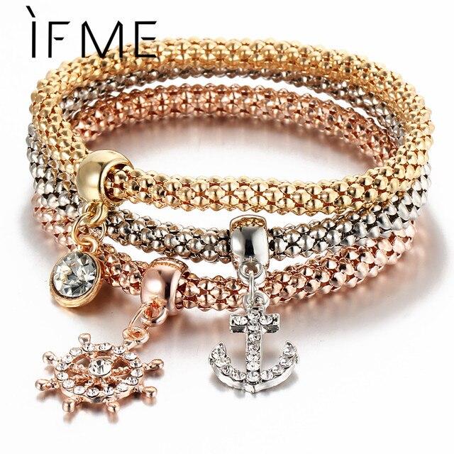 Rose Gold Crystal Owl Charm Bracelets 3