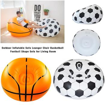 Basketball Extérieur Intérieur | Pouf Gonflable De Basket-Ball Chaise Ballon De Football Air Canapé Intérieur Salon PVC Chaise Longue Pour Adulte Enfants Fauteuil De Salon En Plein Air
