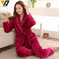 Coral Fleece Tie Rope Women Onesie Flannel Pajamas Sets Soft Hombre Thicken Nightgown Sleep Wear Pajamas Suit  L-XXL