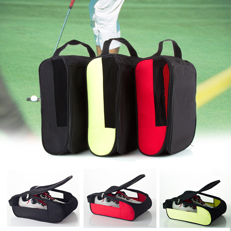 Golf Shoes Bags Zippered Organizer Breathable Portable For Outdoor Sport Travel BHD2