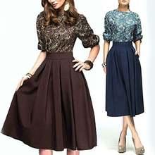 Женское винтажное вечернее платье в полоску