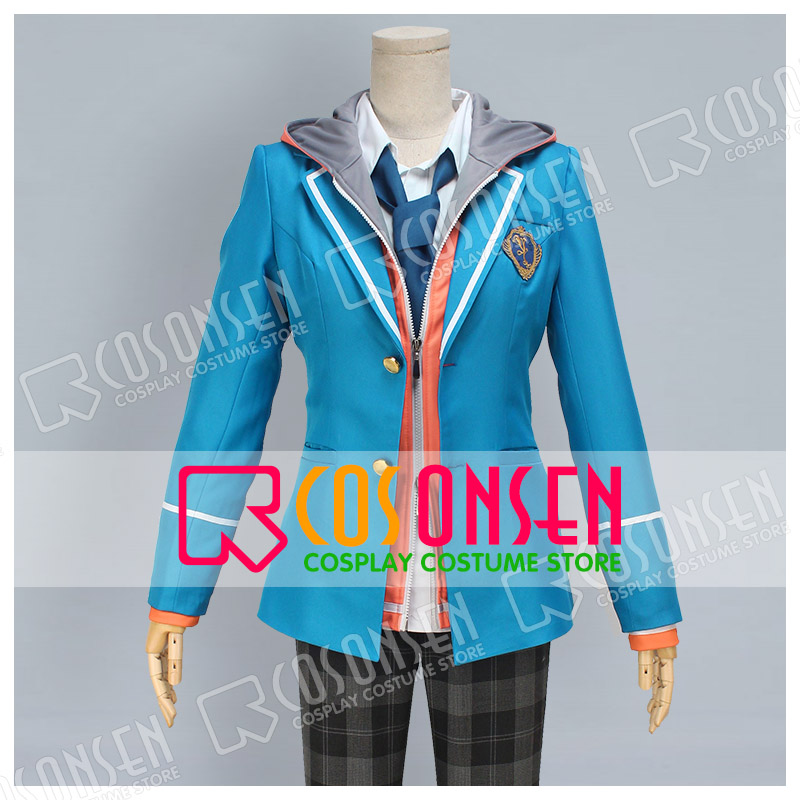 COSPLAYONSEN Ensemble Stars Cosplay Costume Male Blue Uniform new Full Set