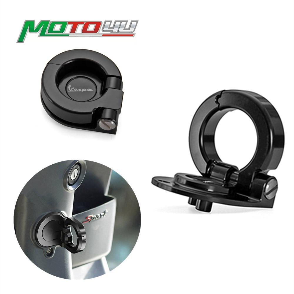 Scooter Motorcycle Helmet Hooks Crochet Locks Parts For Piaggio Vespa GTS 300 GTS300