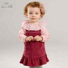 0b0dcc625 Dave bella otoño bebé niña correa de vestido de fiesta de cumpleaños de los  niños