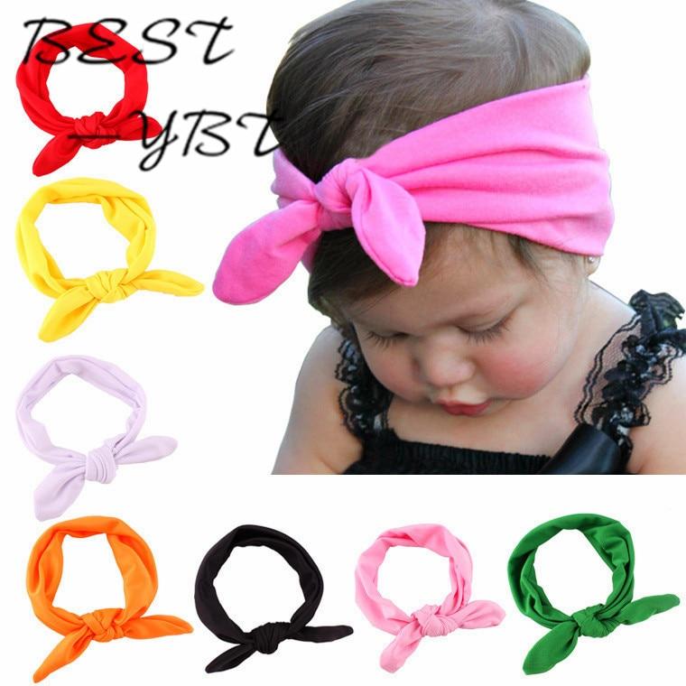 15 Colors Kids Girls Bowknot Tie Ear Hairband Headband Headwrap   Headwear   Bandana Hair Band Accessories