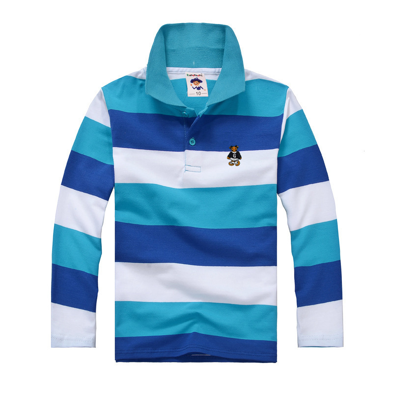 31fc48f68583 Top quality kids children boy t shirt kid boys clothing long sleeve cotton  striped children's T shirts 2 4 6 8 10 12 14 years-in T-Shirts from Mother  & Kids ...