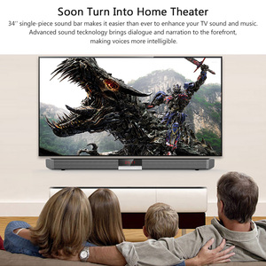Image 2 - XGODY SR100 Plus Bluetooth Soundbar 40W Home Theater TV Sound Bar Wireless Speaker Aux In Coaxial Optical Subwoofer Speakers