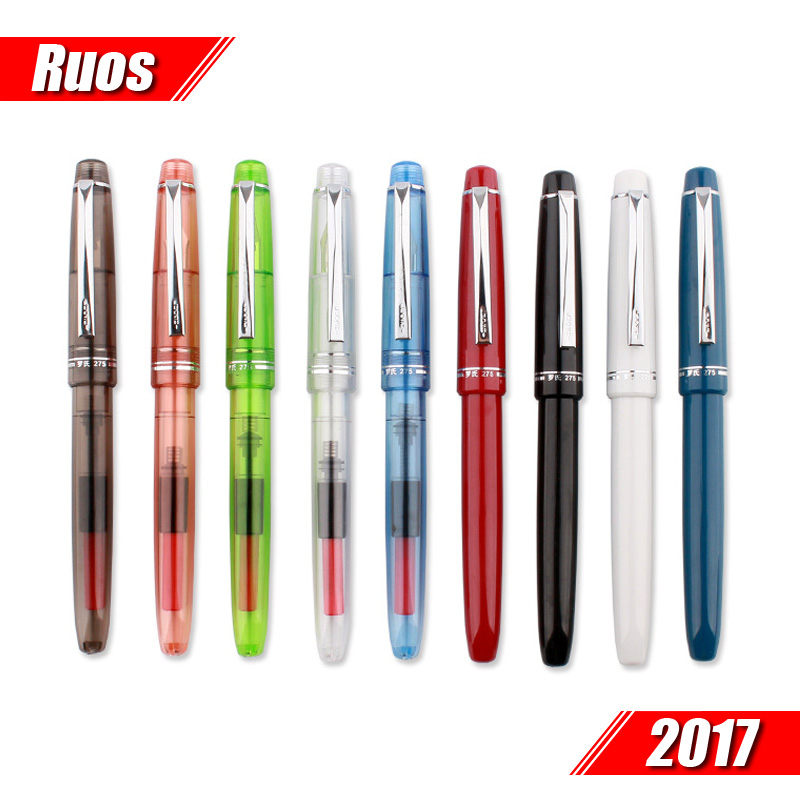 Students practice calligraphy pen colorful transparent similar pilot 78 g lamy fountain pen 0.5mm  clear green blue red brown italic nib art fountain pen arabic calligraphy black pen line width 1 1mm to 3 0mm